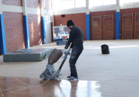 """Се менува паркетот во спортската сала на СОУ """"Перо Наков"""""""